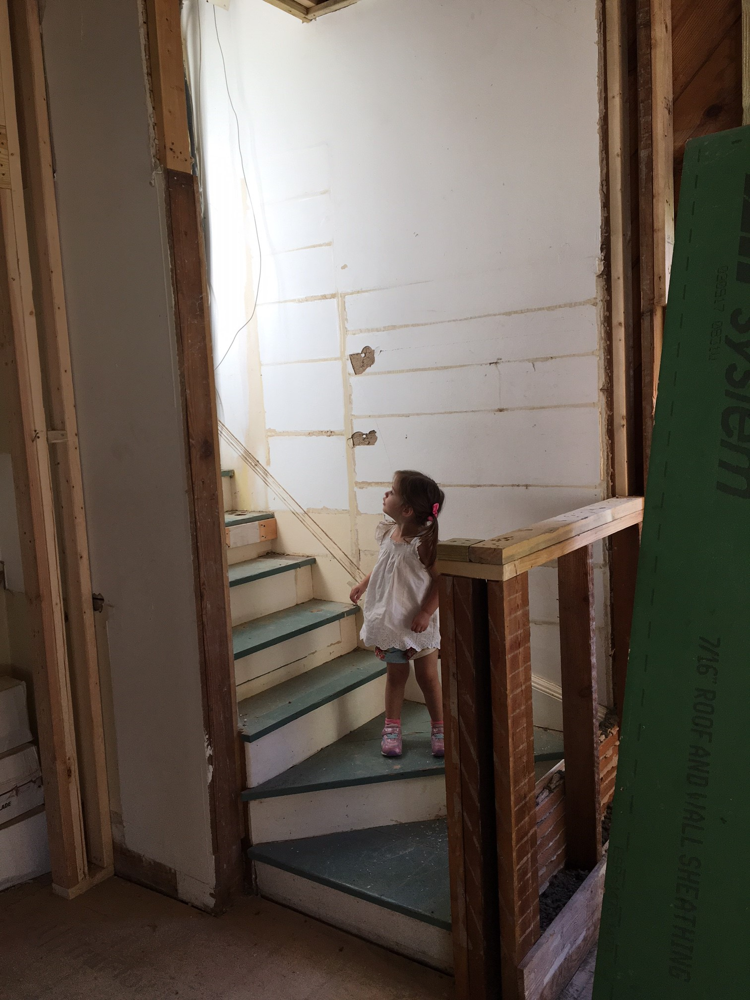 Uncovering A Secret Staircase Young Family Old Home